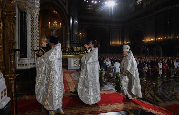 Патриаршее служение в праздник Пасхи Христовой в Храме Христа Спасителя в Москве