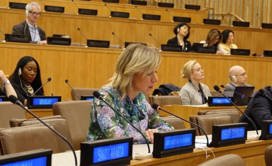 Выступление Марии Захаровой на 41-й сессии Комитета ГА ООН по информации
