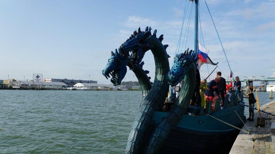 В рамках исследовательской экспедиции, в Гетеборг прибыла древнерусская ладья «Змей Горыныч»