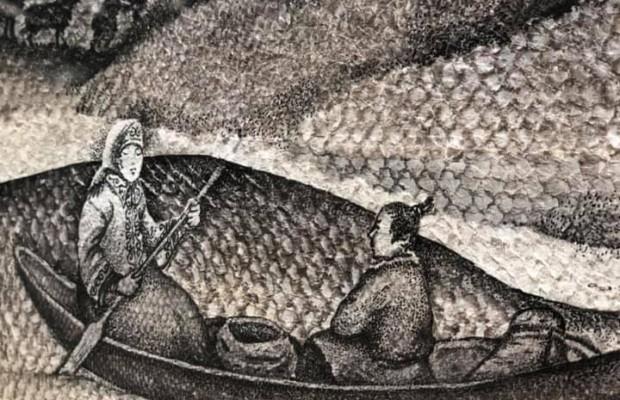 В ООН в Женеве открылась выставка работ сахалинской художницы «Рисуя легенды»