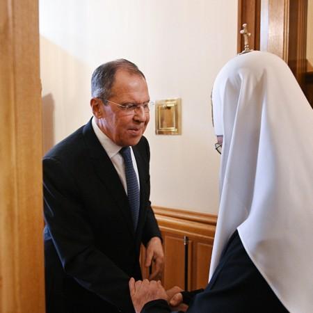 Встреча Святейшего Патриарха Кирилла с министром иностранных дел РФ С. В. Лавровым