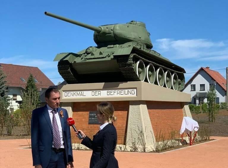 В немецком Байльроде открыт восстановленный мемориал советским солдатам