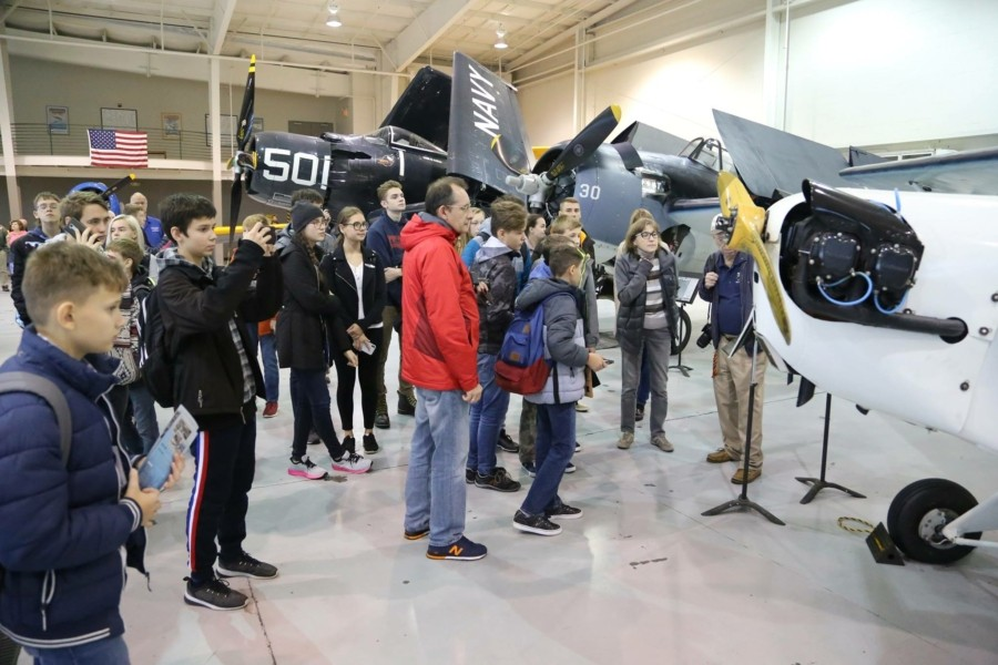 Ученики Посольской школы посетили музей военной авиации Military Aviation Museum