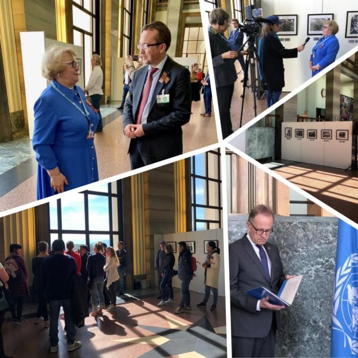 Дню Победы посвящена открывшаяся в Женеве выставка работ Евгения Халдея