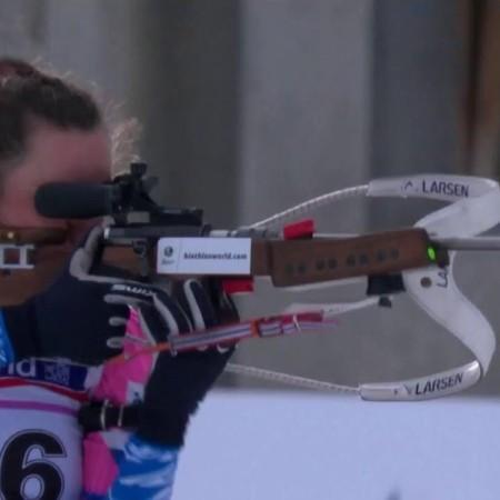 Российская биатлонистка стала лучшей на мировом первенстве среди юниоров в Швейцарии