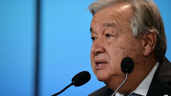 Генсек ООН призвал к глобальному прекращению огня