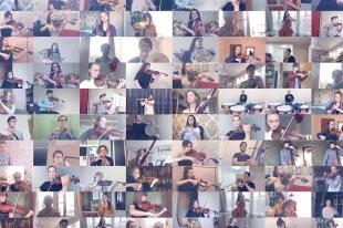 """Музыканты под руководством Юрия Башмета исполнили песню """"День Победы"""""""