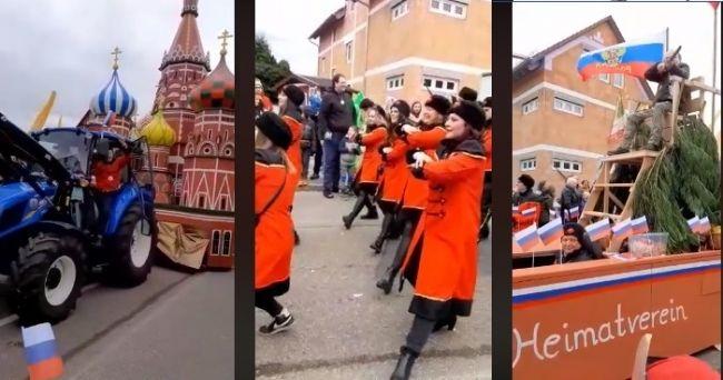 На карнавале в Германии показали храм Василия Блаженного