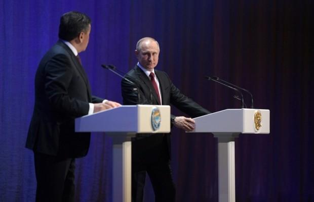 Владимир Путин и Сооронбай Жээнбеков открыли Год России в Киргизии и Киргизии – в России