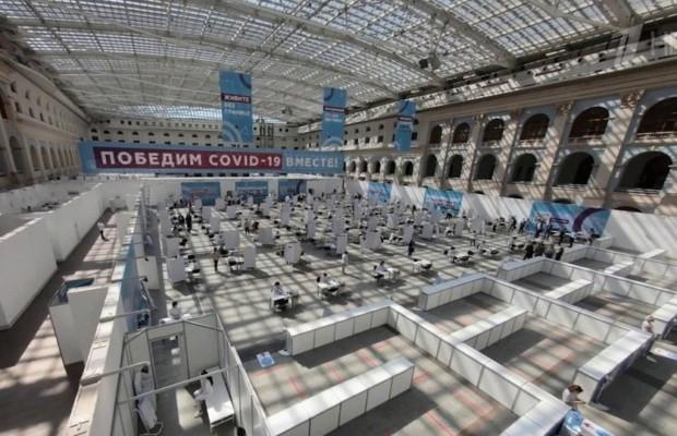 В Москве открылся самый крупный в России прививочный пункт