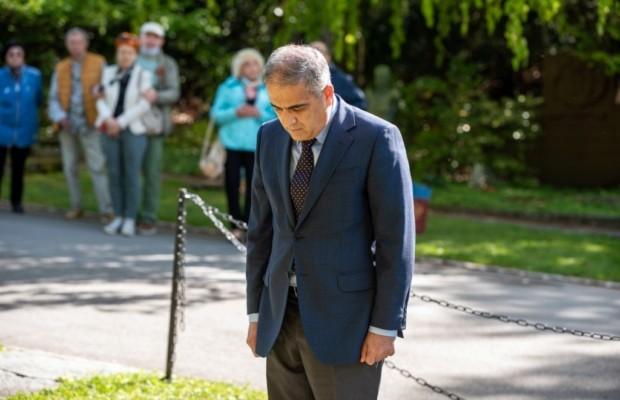 Фоторепортаж с мемориальной церемонии в Базеле, посвящённой 76-й годовщине победы в Великой Отечественной войне