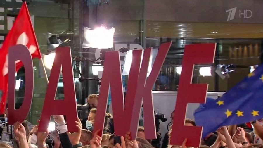 Социал-демократы обошли блок Ангелы Меркель на выборах в Германии
