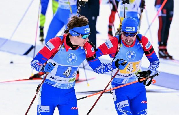 Мужская сборная России по биатлону завоевала бронзу в эстафете на ЧМ
